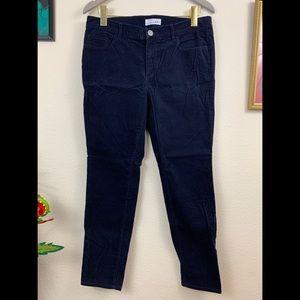 LOFT Navy Modern Skinny Corduroy Pants